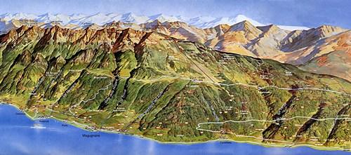 Karte von Montebaldo am Gardasee