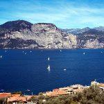 Segelboote zwischen Brenzone und Campione